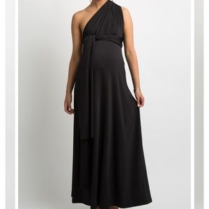 Beautiful black maternity gown - convertible